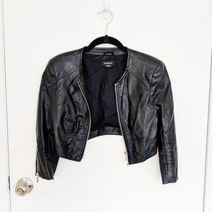 Bebe crop faux leather motorcycle Jacket